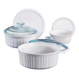 Corningware® Set de 6 recipientes para hornear French White